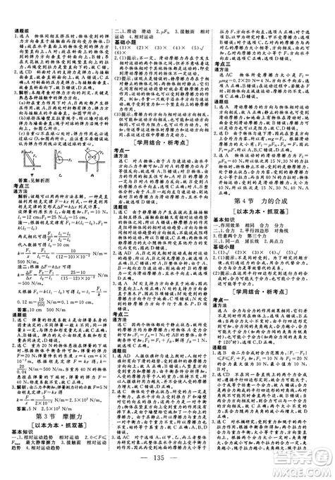三维设计2018-2019版物理必修1人教版参考答案